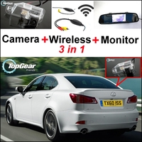 3 In1 Special Rear View Camera Wireless Receiver Mirror Monitor Easy DIY Parking System For Lexus