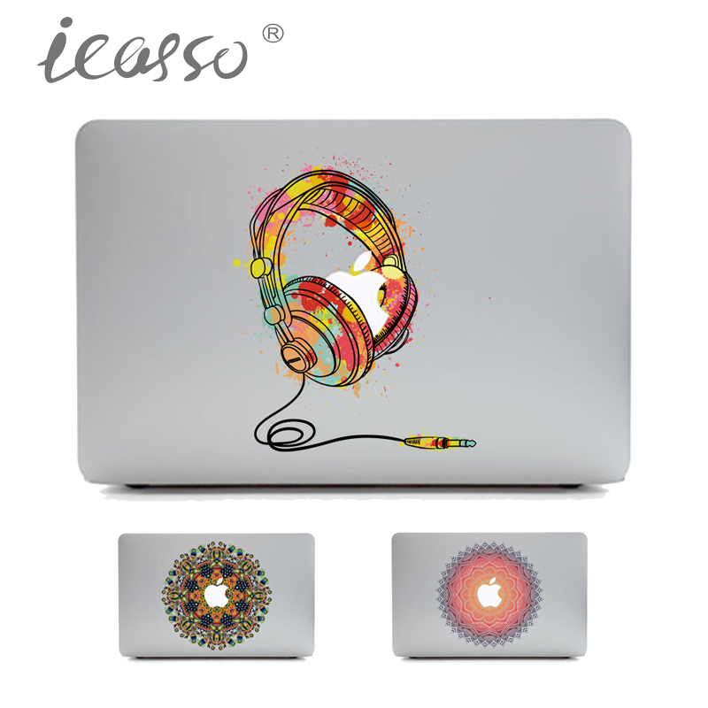 iCasso Headphone Laptop Skin Sticker Protective for Macbook Air Pro Retina 13 15 Inch Skin MacBook case Laptop decal sticker