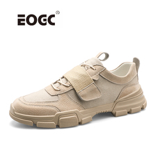 Купить с кэшбэком Spring Men Sneakers Fashion Casual Shoes Men Breathable Walking Shoes Suede Leather With Canvas Outdoor Men Shoes