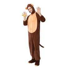 Adulto mono traje para los hombres lindo cálido grueso Cosplay de lana de  poliéster Animal ropa de Carnaval de Halloween 3a1d2dd843ce