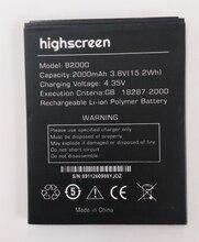 Highscreen B2000 Battery 2000mAh High Quality Mobile Phone Replacement Accumulator все цены