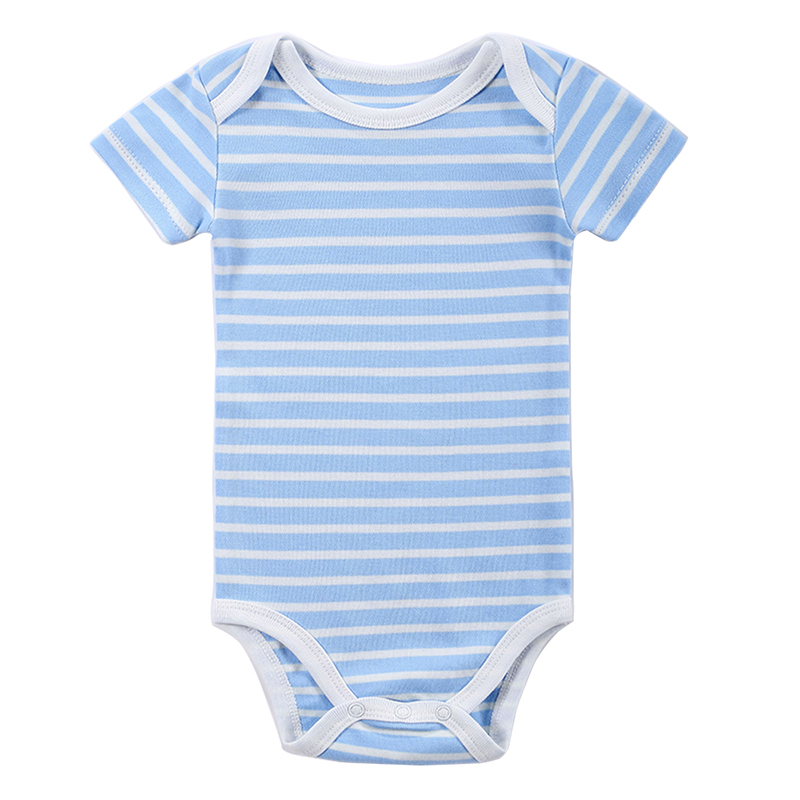 Baby Rompers Newborn Striped Rompers One-Piece Baby Set Clothes Girl Boy Short Sleeve Baby Toddler Jumpers Infant Clothing