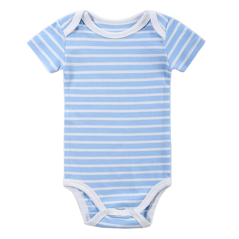 ღ ღBaby Rompers Newborn Striped Rompers One-Piece Baby Set Clothes ...
