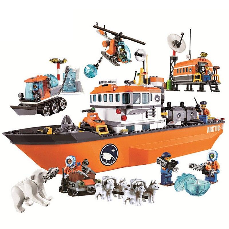где купить Bela 10443 Urban Arctic Series Snow Police Arctic Icebreaker 60062 Building Block 760pcs Bricks Toys Compatible With Legoings по лучшей цене