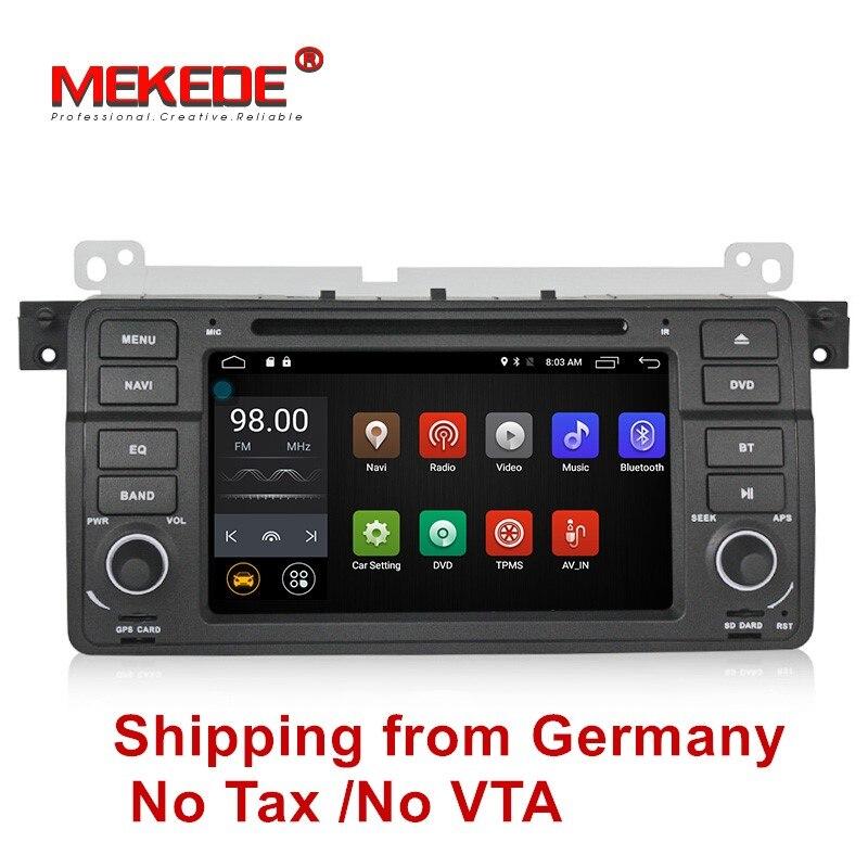 Чистый Android7.1 четырехъядерный автомобильный Радио DVD gps навигация стерео для E46 3 серии M3 1998-2006 ОЗУ ГБ HD 1024*600 Бесплатная доставка