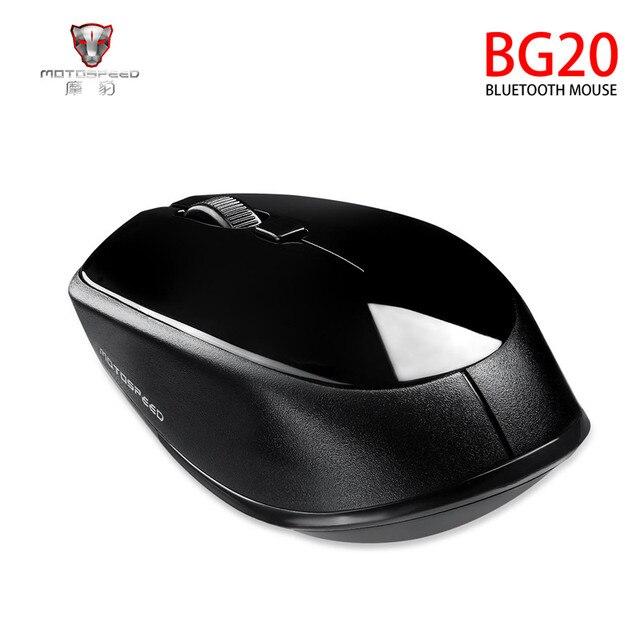 MOTOSPEED BG20 USB mouse Senza Fili del mouse 2400DPI Regolabile USB 3.0 Ricevitore Del Computer Mouse Ottico 2.4GHz Mouse Ergonomico Per Il Computer Portatile PC