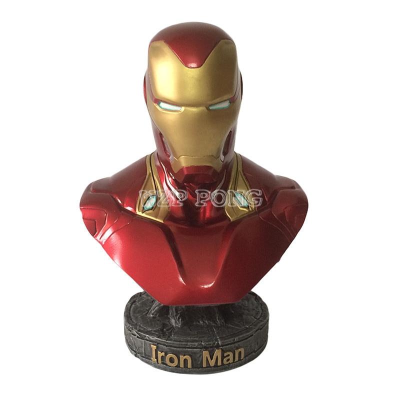 7 ''18 см Мстители: бесконечная война часть I/II фильм фигурки Железный человек MK50 Смола Бюст Железный человек фигурку модель статуя