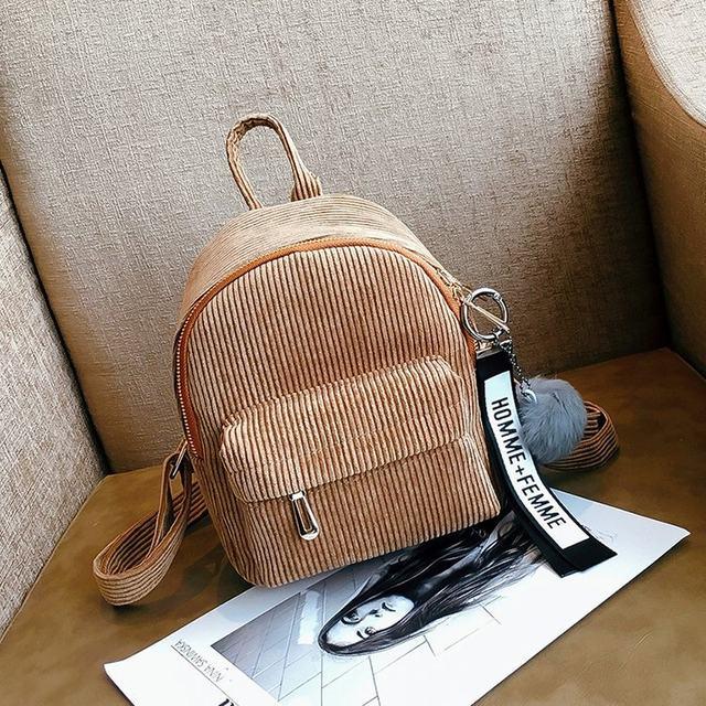 Cute velvet Backpack For Teenagers Children Mini Back Pack Kawaii Girls Kids Small Backpacks female Packbags Fur ball school bag (15)
