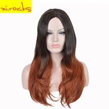 3123 xi Длинные искусственные вьющиеся парики для черных и белых