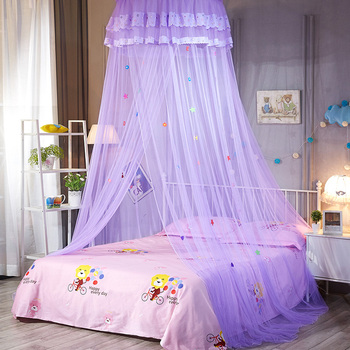 Lovely Hung Dome Mosquito Net For Kids Anti Insect Tent Mesh Round Canopy Beds Kids Hanging Bed Nets For Children Folding dossel