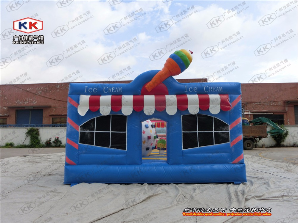 inflatable ice cream bouncer jumping house 0.55mm PVC inflatable colorful bouncer for kids outdoor structure toys for event