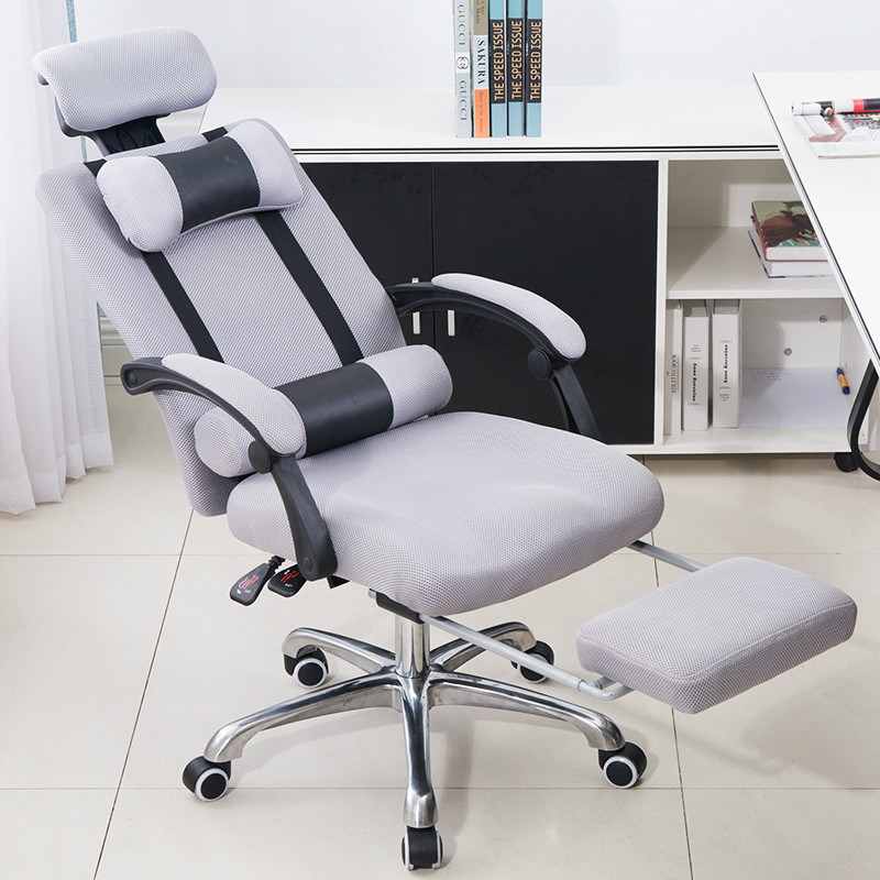 Boss Office Armchair Swivel Computer Chair Household Mesh Staff Chair Ergonomic Lift Chair Comfortable Seat With Footrest 240337 ergonomic chair quality pu wheel household office chair computer chair 3d thick cushion high breathable mesh