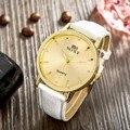 2016 Oferta Especial de Bienes Hombres Manera y Ocasional Reloj de Los Hombres de La Vendimia Simple Band Automática Reloj de Pulsera Moda Casual Ronda Dial