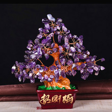 All kinds of natural crystal fortune tree ornaments