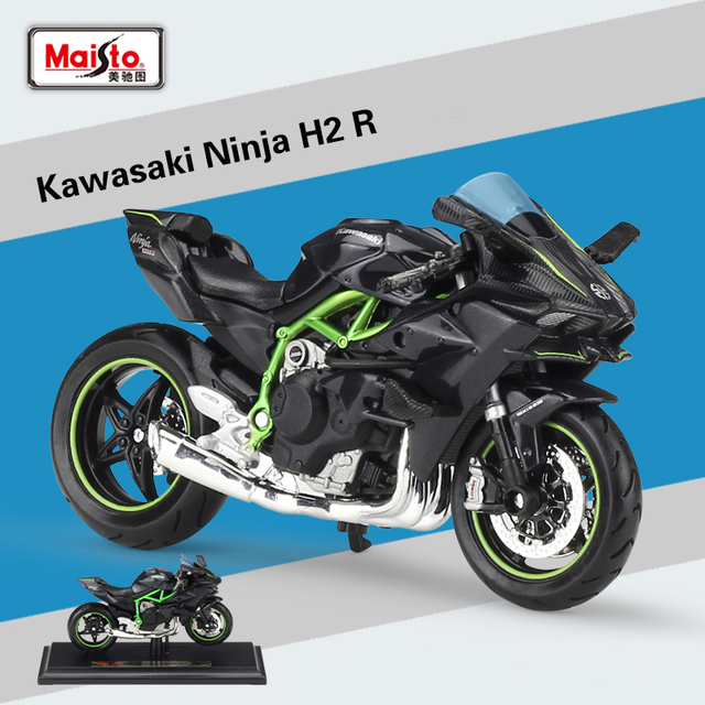 New Maisto 1:18 KAWASAKI NINJA H2 R Black Diecast Alloy Motorcycle Model  Toy For