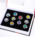 Hot sale Japanese Anime NARUTO COSPLAY Akatsuki Member Ring Uchiha Itachi10 Pcs/Set For Christmas Gifts Free Shipping