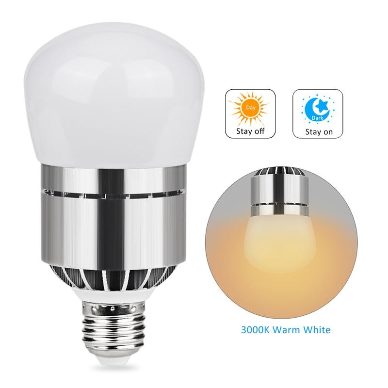 US $14 27 |E26/E27 Light Sensor Dusk to Dawn LED Lights Bulb 12W 1200LM  Automatic on/off Sensor Light Indoor Outdoor Security Bulb-in LED Bulbs &