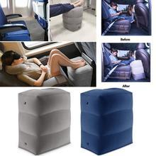 3 katmanlar şişme seyahat ayak dinlenme yastığı uçak tren araba Footrest çevre dostu ayak ped yastık arabalar ve uçak