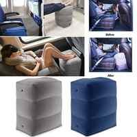 3 schichten Aufblasbare Reise Fuß Rest Kissen Flugzeug Zug Auto Fußstütze Umweltfreundliche Fuß Pad Kissen Für Autos Und Flugzeug