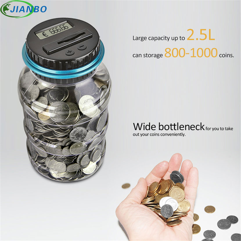 Digital Money Transparent Key Safe Box Jar Intelligent Electronic LCD Coin Counting Plastic Piggy Bank Saving Money Security Box 1 pieces dental equipment rotatable single tube dental gas light bunsen burner alone duct gas lights for dental laboratory