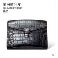 gete 2019 new Leather hand bag crocodile hand bag fashion business man wrist bag large capacity man clutch bag