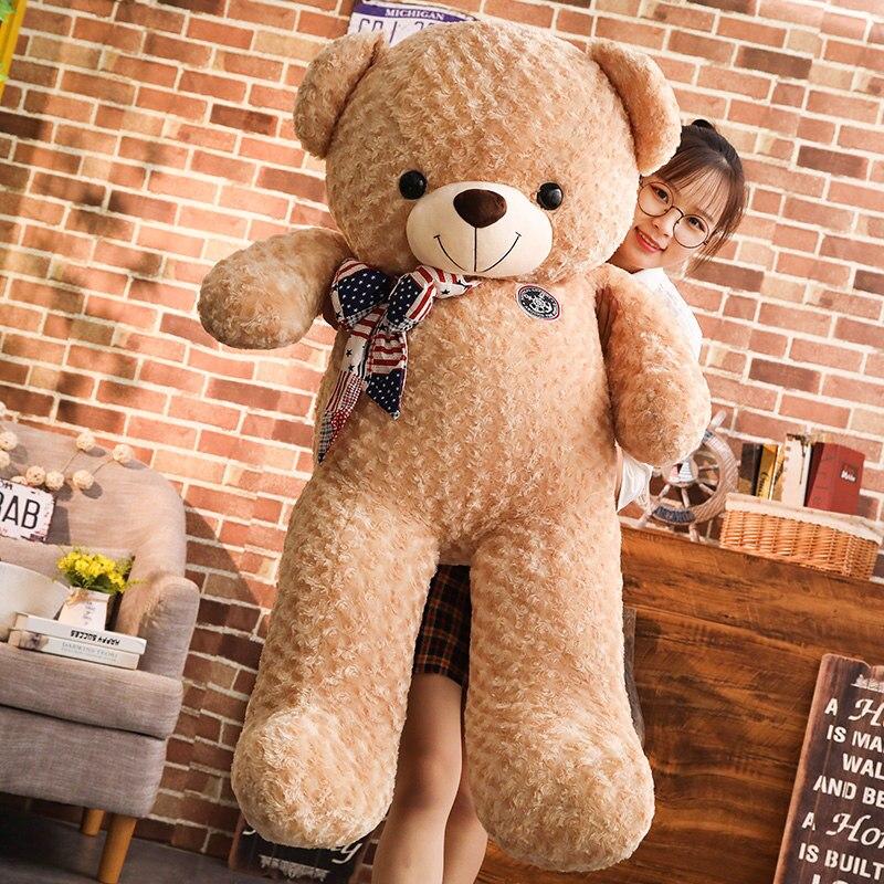 130cm blanc/brun énorme Rose cachemire ours en peluche pour les cadeaux de Festival/Confessions cadeaux/anniversaire Gitfs