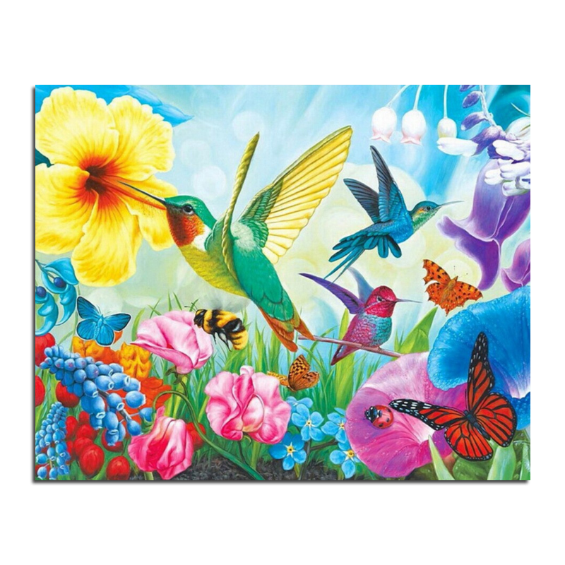 Charactizing a fine spring 50x40 cross stitch diy full diamond drawing square supplies embroidered paste Mosaic home decoration