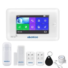 ubontoo All Touch Screen Alexa Version 433MHz GSM WIFI Smart Home Security Monitor Burglar Alarm System Kits цена
