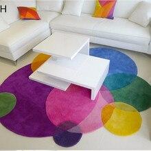 Градиентные радужные современные ковры ручной работы для гостиной, спальни, модный креативный журнальный столик, диван, индивидуальный трендовый ковер