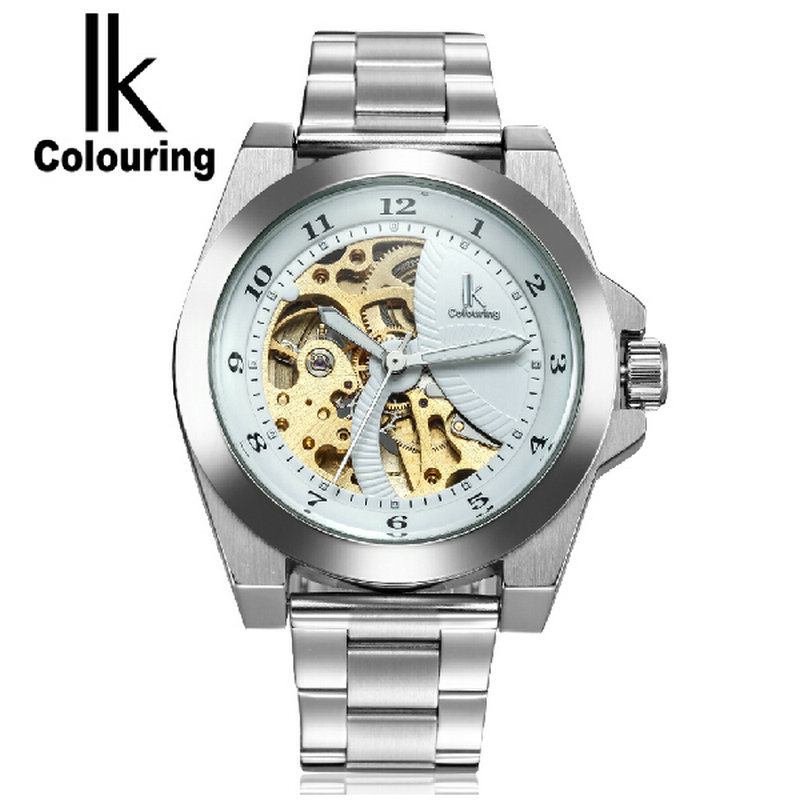 ФОТО Ik mechanical watch for double faced perspectivity cutout fully-automatic machinery needle mens watch
