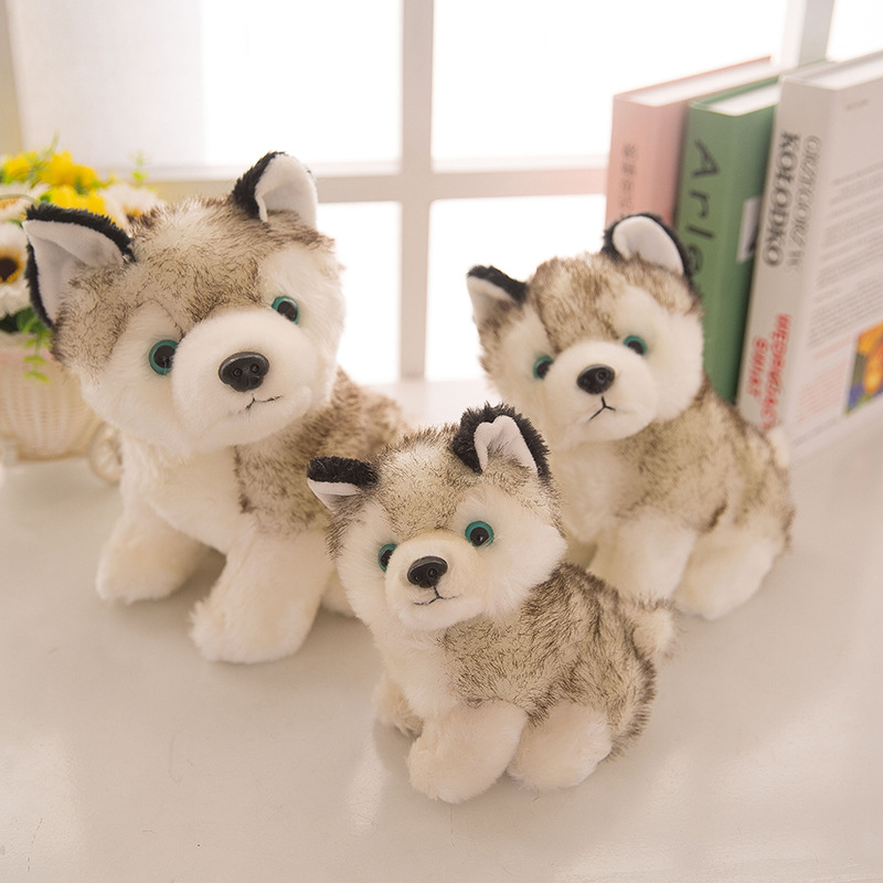 JOY-JOYTOWN 18-28cm Plush Husky Dog Toy Creative Q Version Sled Dog as Gifts for Children Girlfriend Girls