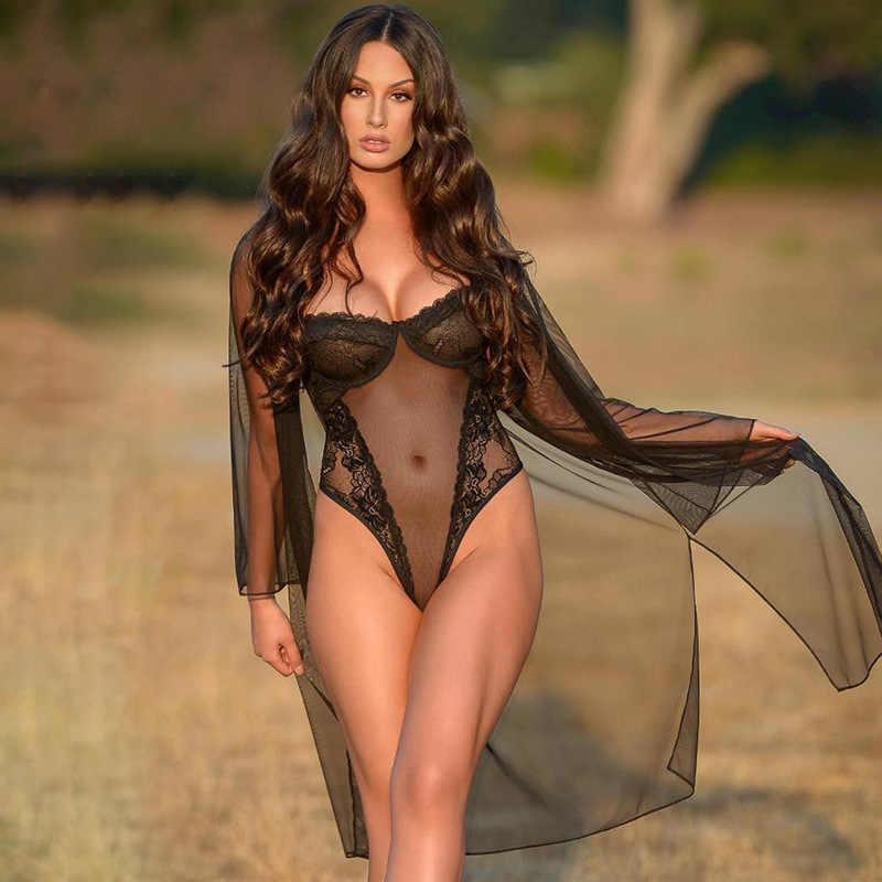 Сексуальный кружевной сетка прозрачный корпус женские боди на тонких бретелях, с низким вырезом на спине, прозрачное кружевное облегающие скини без бретелек с черным корпусом