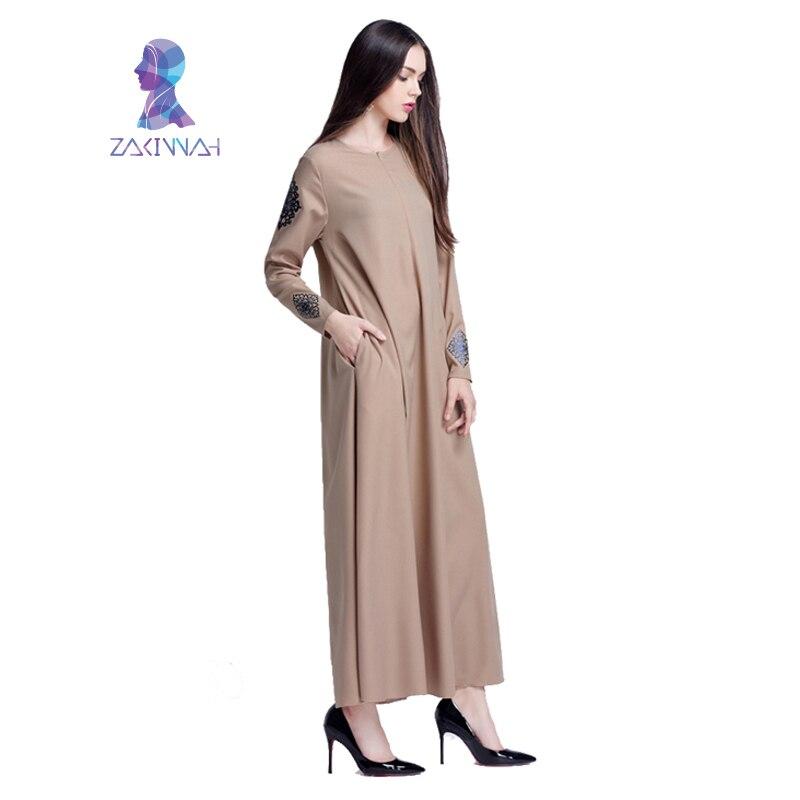 Robe imprimée longue musulmane pour femmes longue Dubaï caftan - Vêtements nationaux - Photo 4