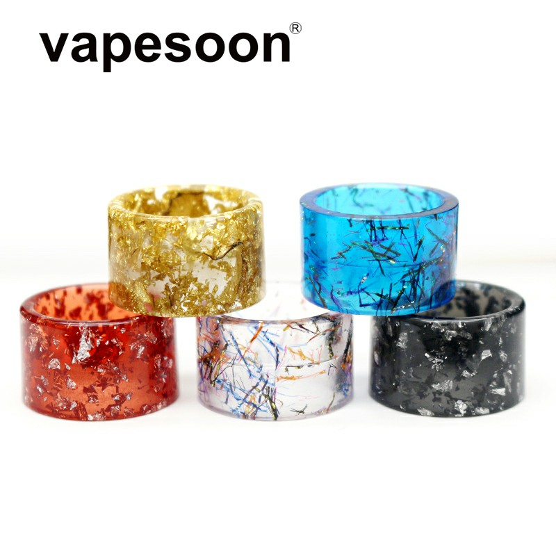 Colorful / Cobra Snake Skin TFV16 Drip Tip Vape Mouthpiece For SMOK TFV16 Tank Atomizer