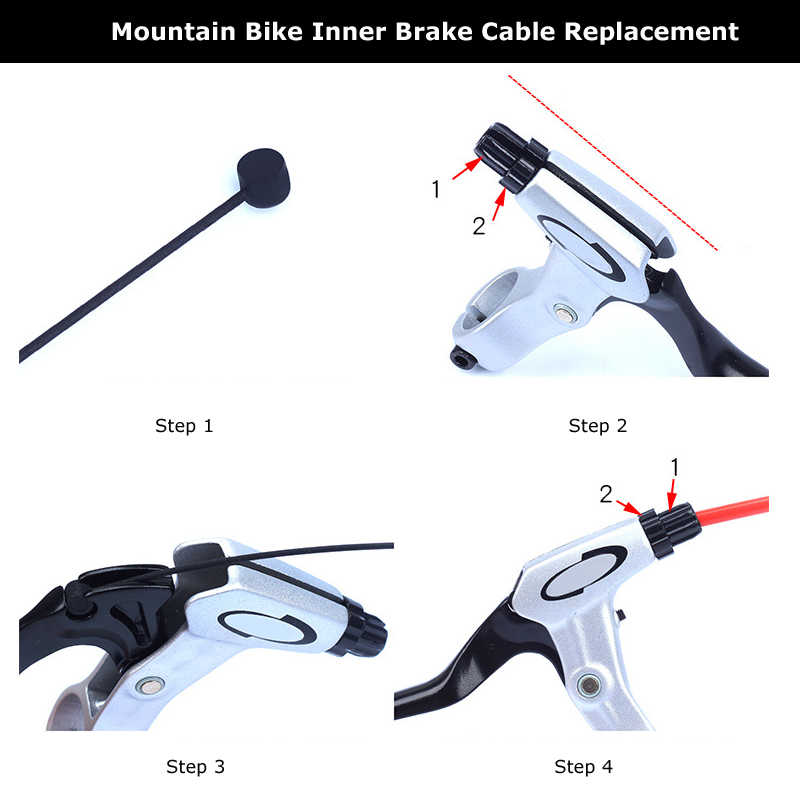 1pc  Coated Wire For Bicycle MTB Road Bike Shifter Brake Front Rear Derailleur Brake Cable 2100mm 1550mm 1700mm 1100mm