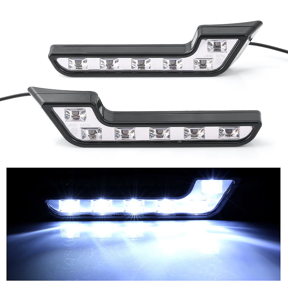 DRL Led Daytime Running Lights White 6000K 12V Auto 6 COB LED DRL Light Auto Fog Lamp Headlight Accessories Car Styling