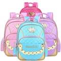 Hot Sale PU Princess Girl School Bag Multi-Function Waterproof Children Sweet Crown Schoolbags 2-6 Grade Students Book Bags X029