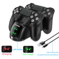 PS4 Game Controller Joypad Joystick Handle USB Charger Dual USB Fast Charging Dock Station for Playstation 4 PS4 Slim / PS4 Pro