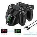 Ps4 controlador de jogo joystick manípulo usb carregador duplo usb estação doca carregamento rápido para playstation 4 ps4 magro/ps4 pro