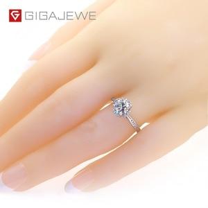 Image 2 - GIGAJEWE Moissanite แหวน 1.2ct VVS1 รอบตัด F สี Lab เพชรเงิน 925 เครื่องประดับ Love Token ผู้หญิงแฟนของขวัญ Courtship