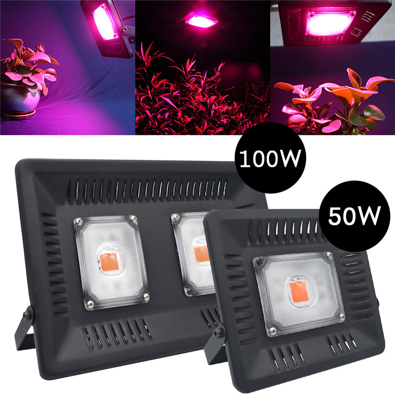 Led Flood Light Spectrum: Full Spectrum LED Grow Flood Light 50W 100W 220V IP65