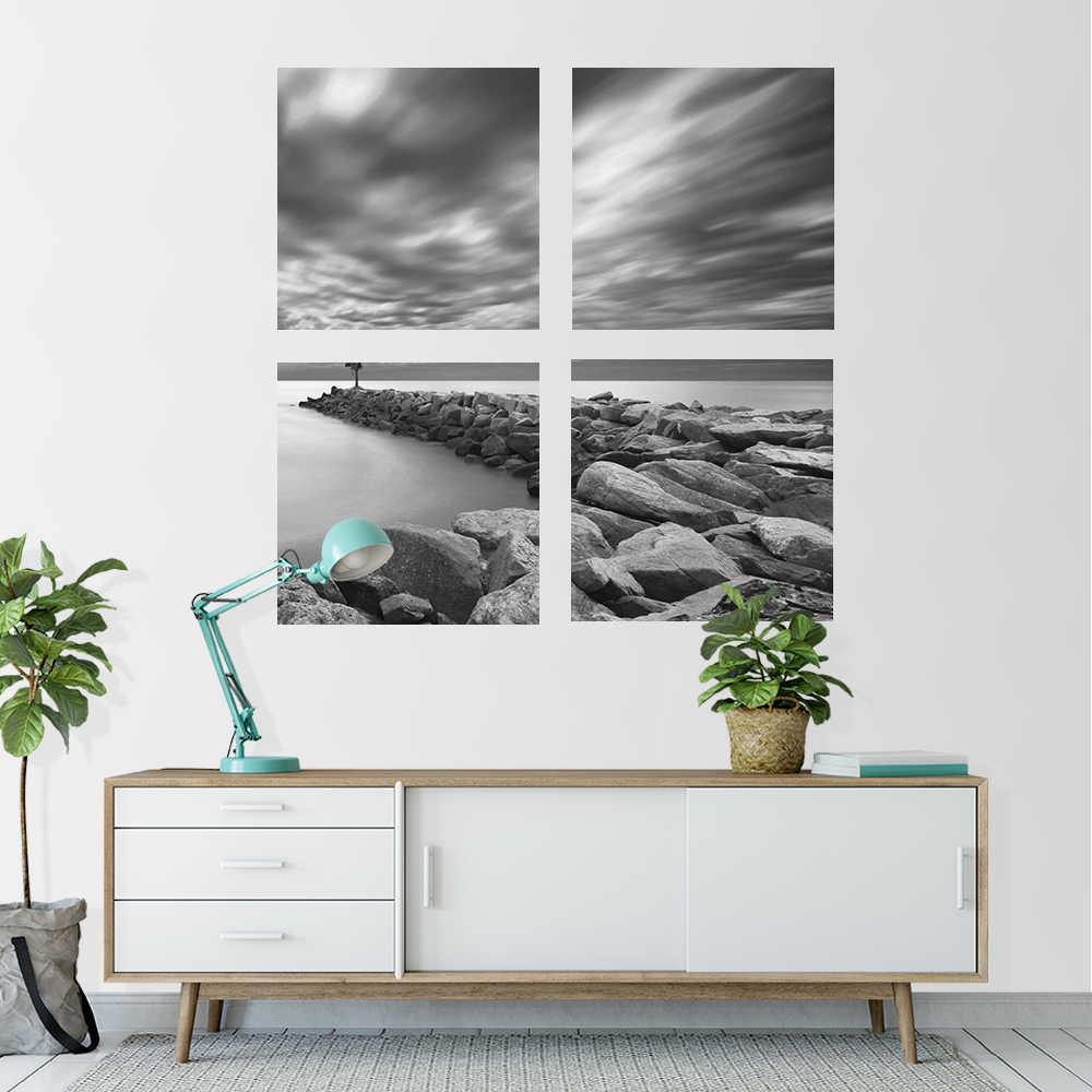 4 لوحة شخصية مخصصة صور على قماش سبليت قماش يطبع دهان داي جدار الفن على غرفة المعيشة الأسرة صورة هدية ملصق