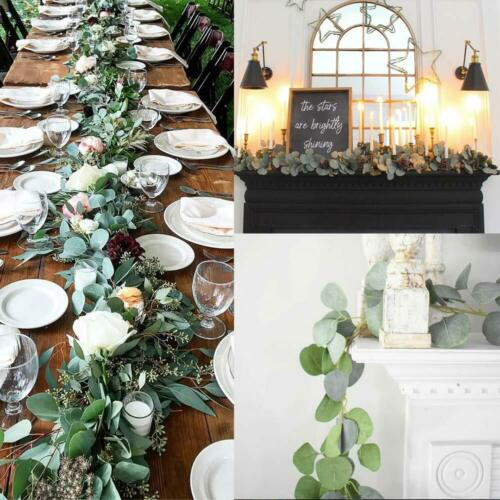 2M New Artificial Eucalyptus Garland Hanging Rattan Wedding Greenery Party Home Garden Decor