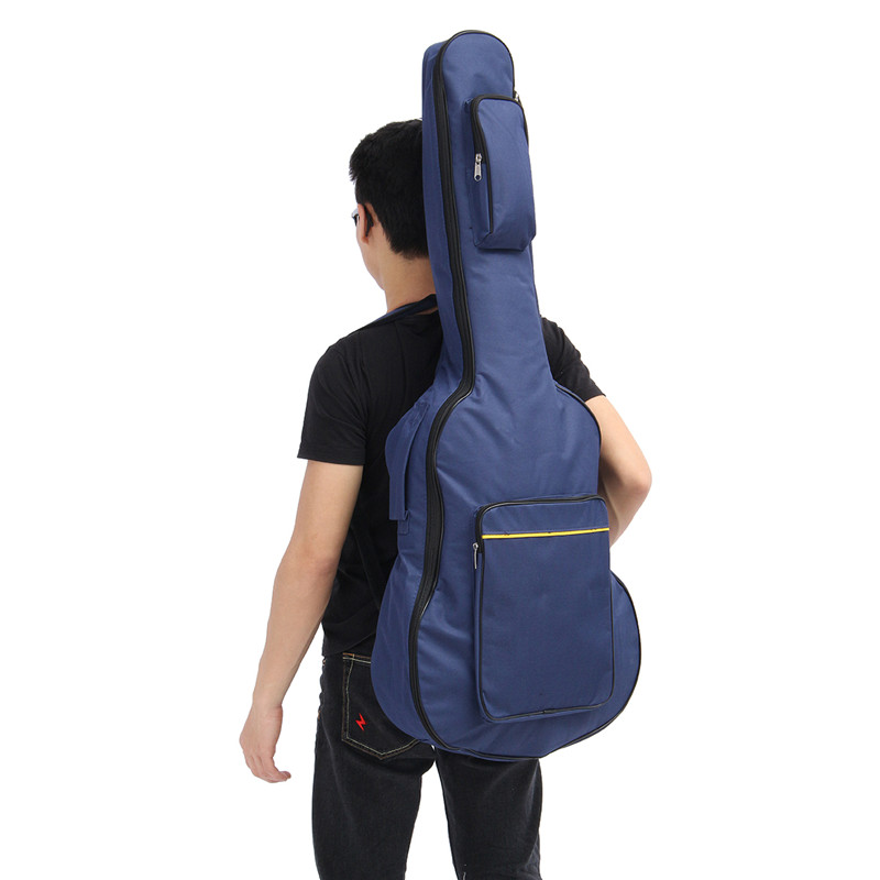 40 41'' Classical Acoustic Guitar Backpack Ukulele Carry Case Padded Gig Bag with Double Straps For Musical Instruments Parts 36 backpack gig bag carry case for ukulele acoustic guitar durable black blue