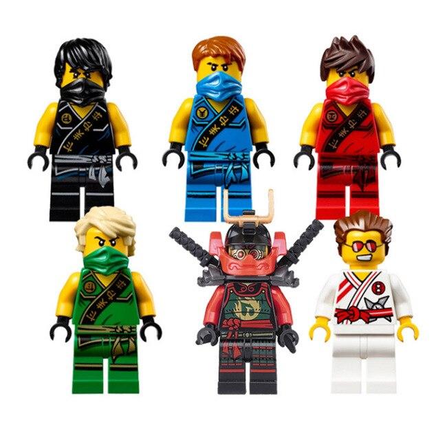 Pogo lepin decool action figures bricks blocks ninjago - Ninjago kai jay zane cole lloyd ...