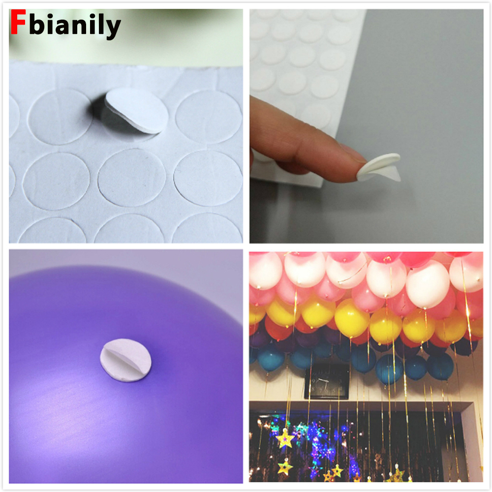 Holiday supplies 100 Points Balloon Attachment Glue Dot Attach Balloons To Ceiling Birthday Party Wedding Supplies