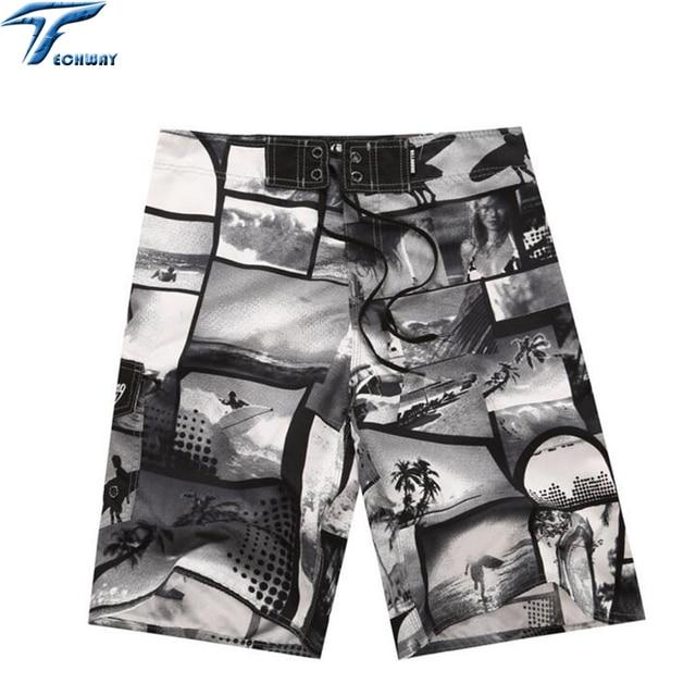 2019 Summer Men's Clothing Beach Shorts Travel Men's Beach Short Surf Bermuda Board Beach Print Quick Dry Boardshorts 4