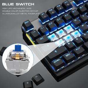 Image 4 - Motospeed GK82 Тип C 2,4G Беспроводной/Проводная Механическая игровая клавиатура 87Key красный переключатель Перезаряжаемые светодиодный Подсветка для портативных ПК