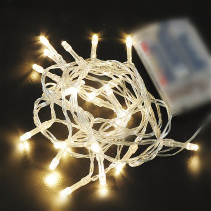 10/20/40/80/160 AA Battery Operated LED String Lights for Xmas Garland Party Wedding Decoration Christmas Flasher Fairy Pakistan
