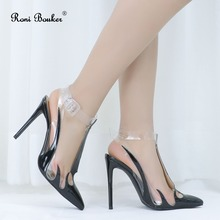Roni Bouker Luxury Woman High Heels Black Patent Leather Buc